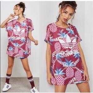 NWT Adidas Originals X FARM Pineapple Boxy Tee